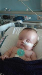 Baby Trevor during one of his many hospital stays.